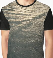 Glittering Waves Graphic T-Shirt
