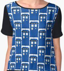 TARDIS Plain & Simple Chiffon Top