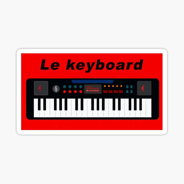 Le keyboard Sticker