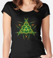 Energetic Geometry-  Abstract Pentacle Symbol for Earthen Connection Women's Fitted Scoop T-Shirt