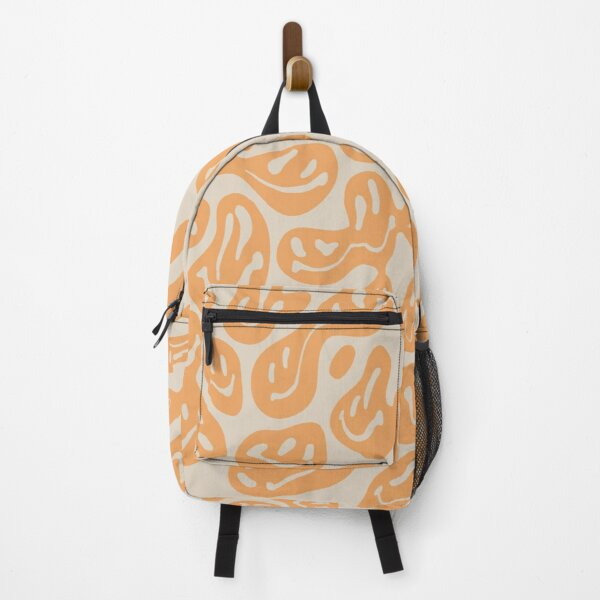 Orange Dripping Smiley Backpack