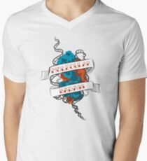 Molecular Badass Tattoo V-Neck T-Shirt