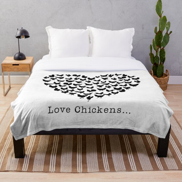 Love Chickens Throw Blanket