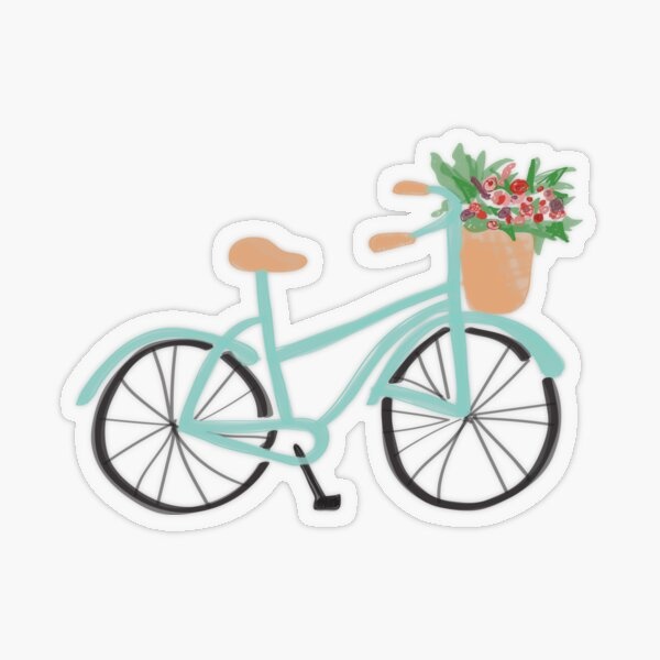 Baby Blue Bicycle Transparent Sticker