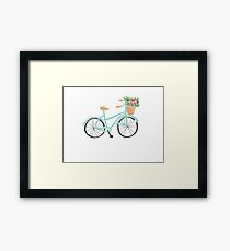 Baby Blue Bicycle Framed Print