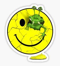 Happy Alien Face Sticker