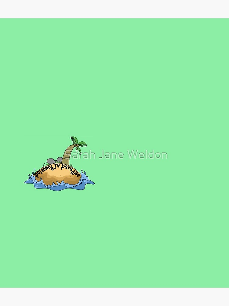 Poisoned in Paradise Cozy Murder Mystery Palm Tree and Island by SarahRowsSolo