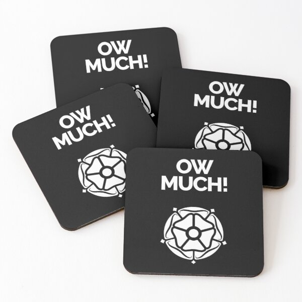 Yorkshire dialect Ow Much! Coasters (Set of 4)
