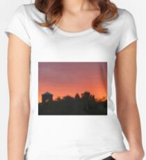 Red Sunset in Arizona Women's Fitted Scoop T-Shirt
