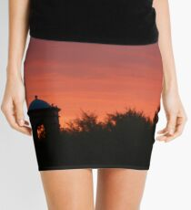 Red Sunset in Arizona Mini Skirt