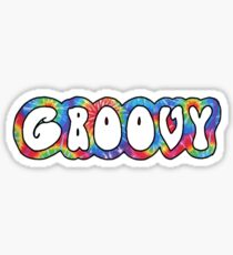 groovy tie dye pattern Sticker