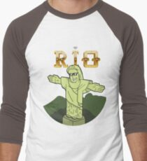 The Face of Rio - Christ Men's Baseball ¾ T-Shirt