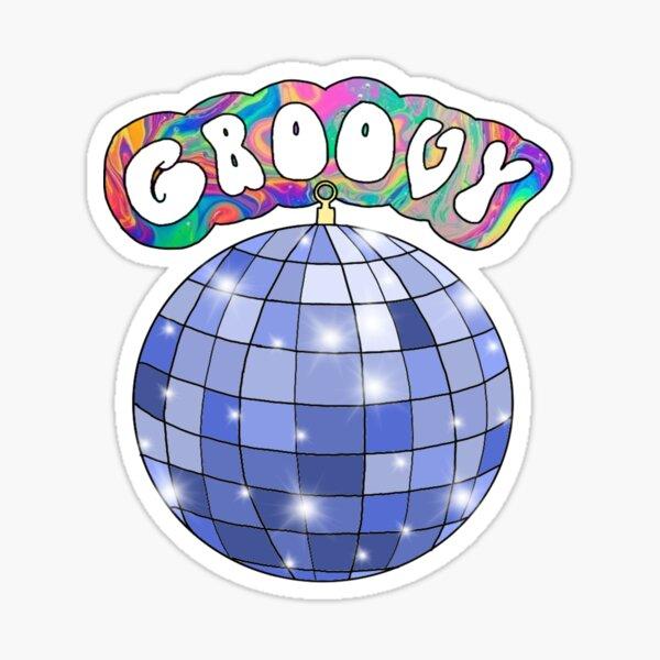 70s disco ball groovy Sticker