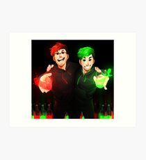 Septiplier - Glow Art Print