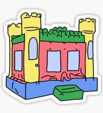 primary colors bouncy house Sticker
