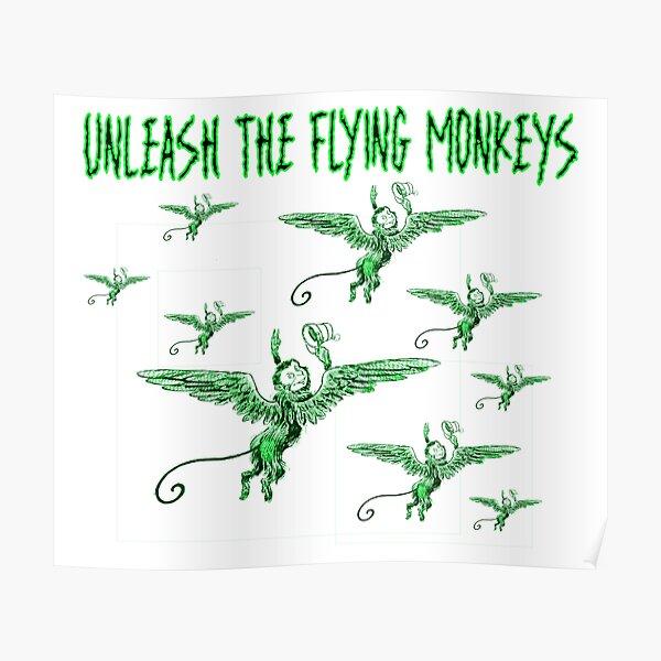 flying monkeys vintage oz retro  Poster