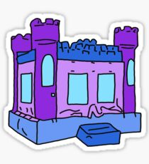 purple and blue bouncy house Sticker
