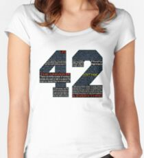 Hitchhiker's Guide 42 Quotes Women's Fitted Scoop T-Shirt
