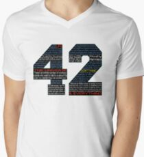 Hitchhiker's Guide 42 Quotes Men's V-Neck T-Shirt
