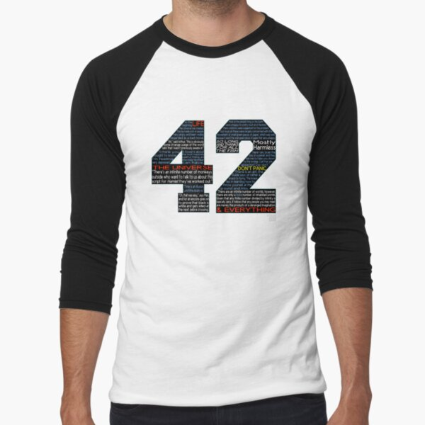 Hitchhiker's Guide 42 Quotes Baseball ¾ Sleeve T-Shirt