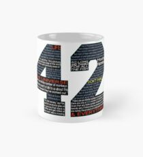 Hitchhiker's Guide 42 Quotes Classic Mug