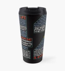Hitchhiker's Guide 42 Quotes Travel Mug