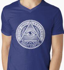Funny ILLUMINATTION Men's V-Neck T-Shirt