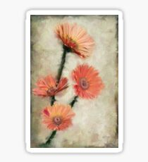 Dewy Muted Zinnias Sticker