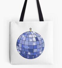 sparkly blue disco ball Tote Bag