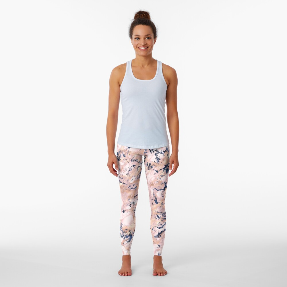 Marble background on Leggings
