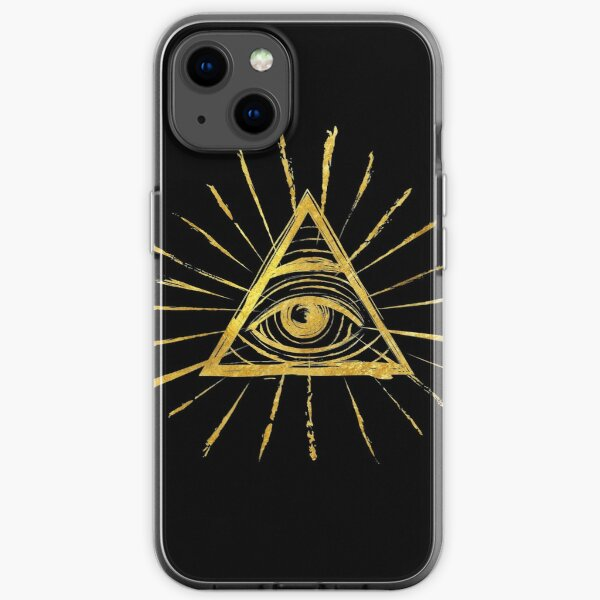 All Seeing Eye - Vintage Gold iPhone Soft Case