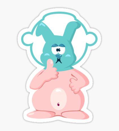 Diver bunny VRS2 Sticker