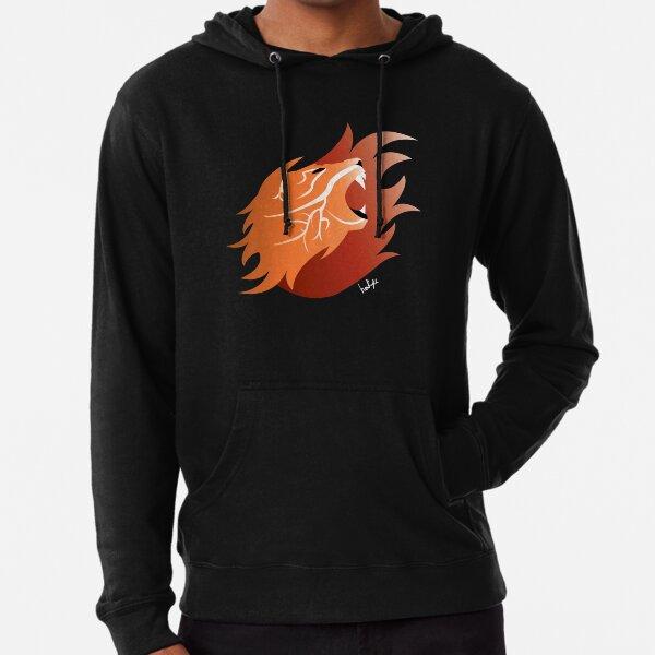 Fire Lion (Black Back) Lightweight Hoodie