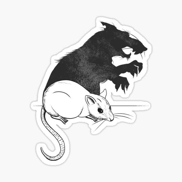 The Strange Case of Dr. Mouse and Mr. Rat Sticker