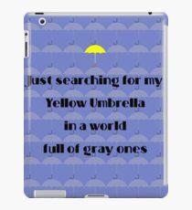 Yellow Umbrella iPad Case/Skin