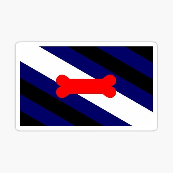 Welpen-Spiel-Stolz-Flagge Sticker
