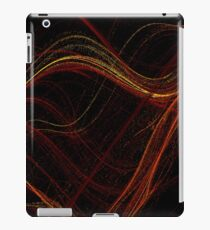 Fiery Swirls on Black iPad Case/Skin