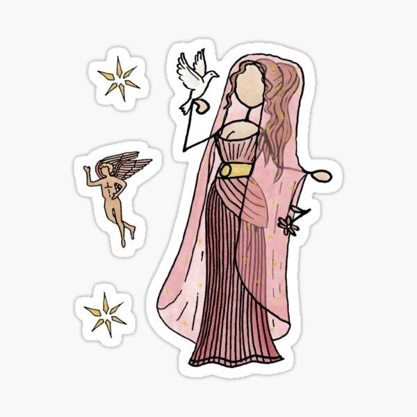 Greek Myth Comix - Aphrodite and Eros  Sticker