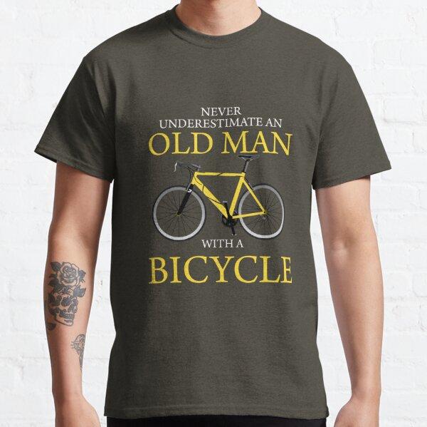 Ne jamais sous-estimer le vieil homme à vélo T-shirt classique