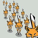 A rampage of foxes by jennyjeffries
