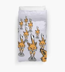 A rampage of foxes Duvet Cover