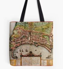 Ancona Vintage map.Geography Italy ,city view,building,political,Lithography,historical fashion,geo design,Cartography,Country,Science,history,urban Tote Bag
