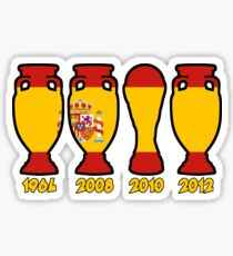 Spain World Cup and European Championship Trophy Cabinet Sticker