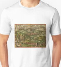 Alham Vintage map.Geography Germany ,city view,building,political,Lithography,historical fashion,geo design,Cartography,Country,Science,history,urban T-Shirt