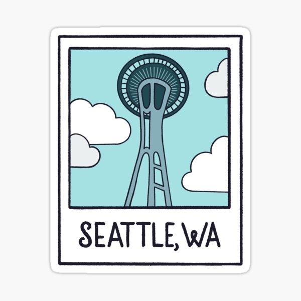 Seattle Space Needle Polaroid Sticker