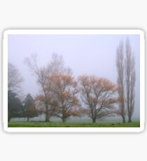 ~ Trees in the Morning Mist ~ Sticker