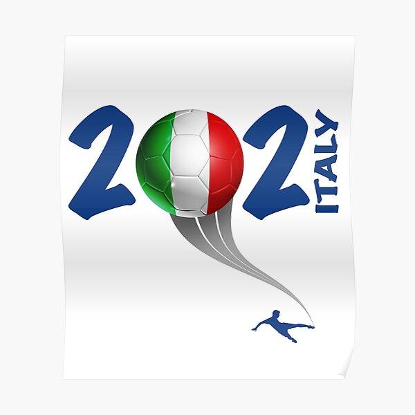 Logo Italie Euro Soccer 2021 Poster