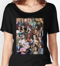 Chris Hemsworth Collage  Women's Relaxed Fit T-Shirt