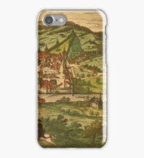 Baden Vintage map.Geography Germany ,city view,building,political,Lithography,historical fashion,geo design,Cartography,Country,Science,history,urban iPhone Case/Skin
