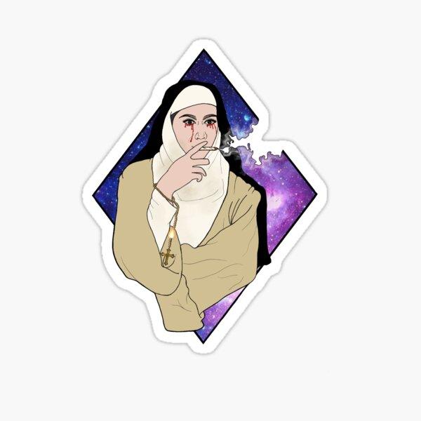 Smokin nun  Sticker